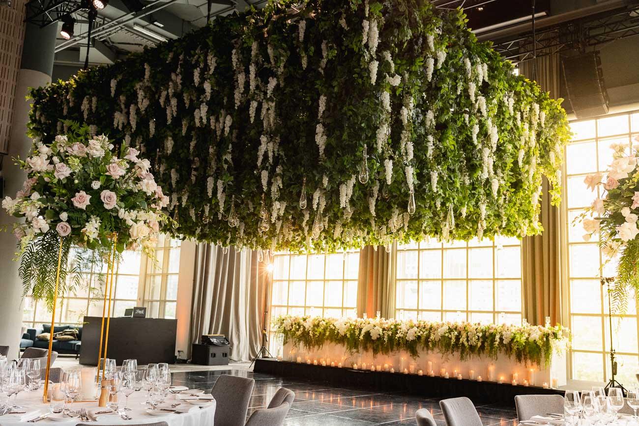 melbourne ceiling installation flower metropolis