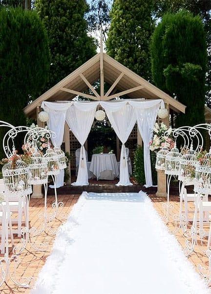 Civil ceremony decorations