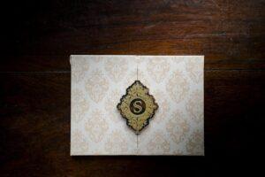 fold out wedding invitation
