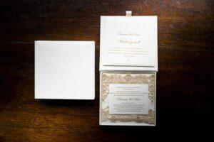 customised wedding invitation box