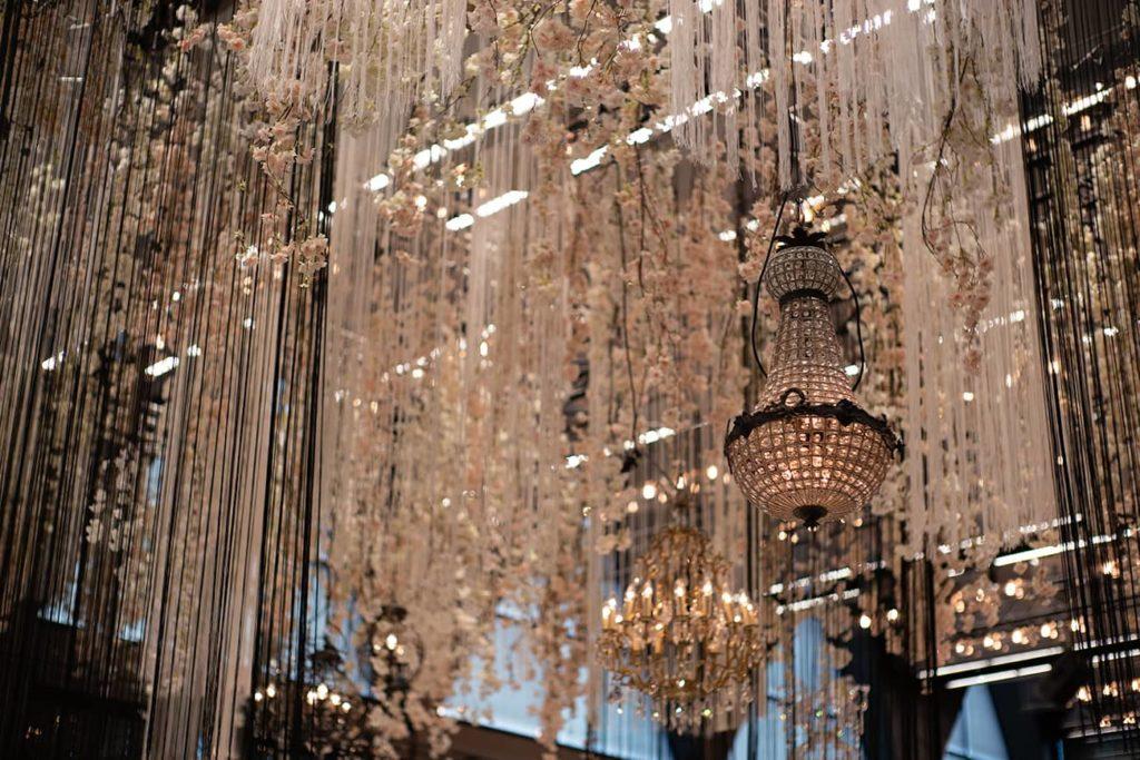 chandelier ceiling installation
