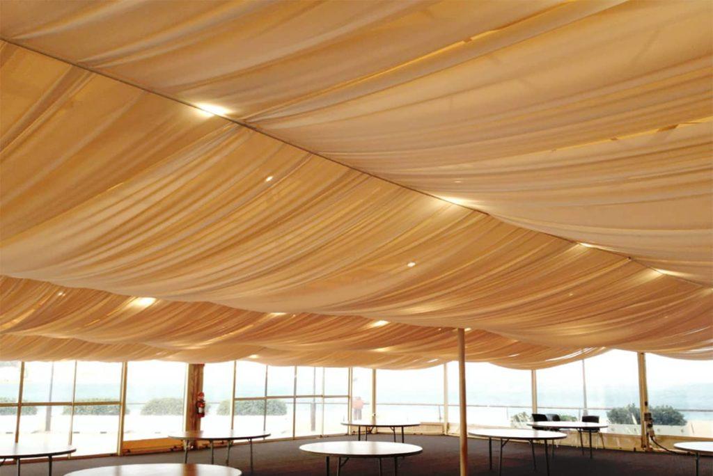 ceiling material drape
