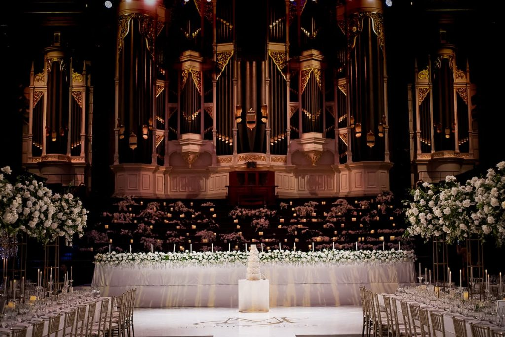 Sydney Town Hall Wedding Decorations by Anna Wang