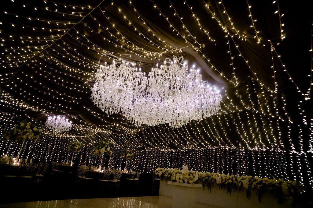 wedding venue chandelier hire