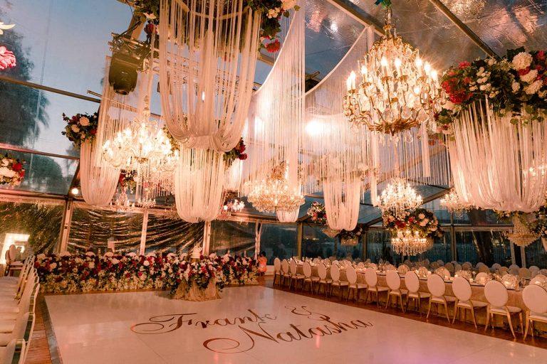 Marquee wedding chandelier
