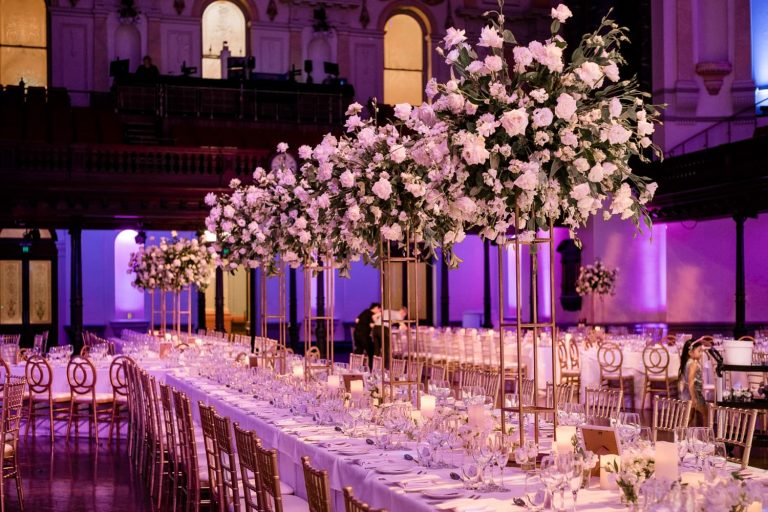 King table flower centrepieces