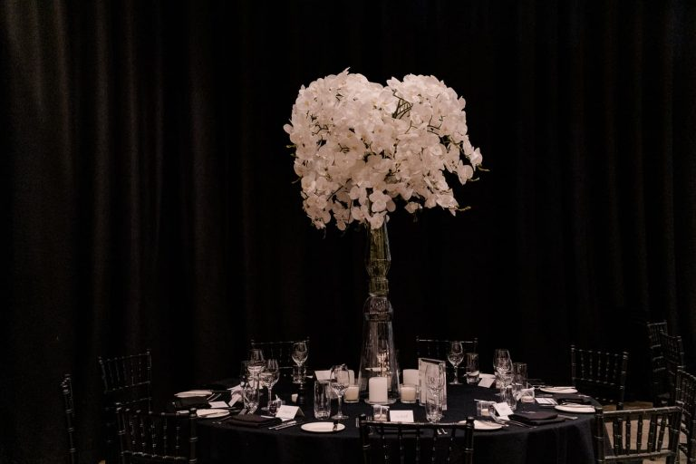 Orchid flower centrepieces