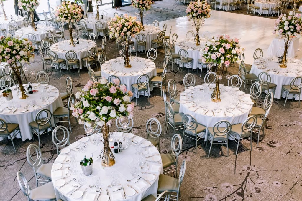 Curzon Hall Table centrepieces wedding