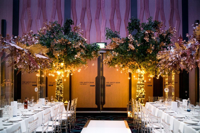 Hyatt Regency Wedding trees
