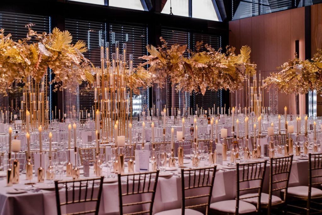 Gold theme wedding