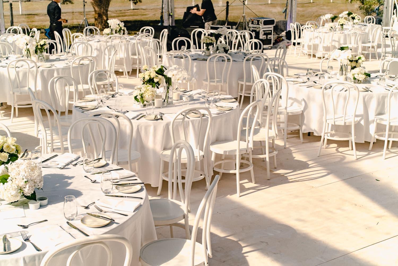 Centennial Park Homestead marquee wedding