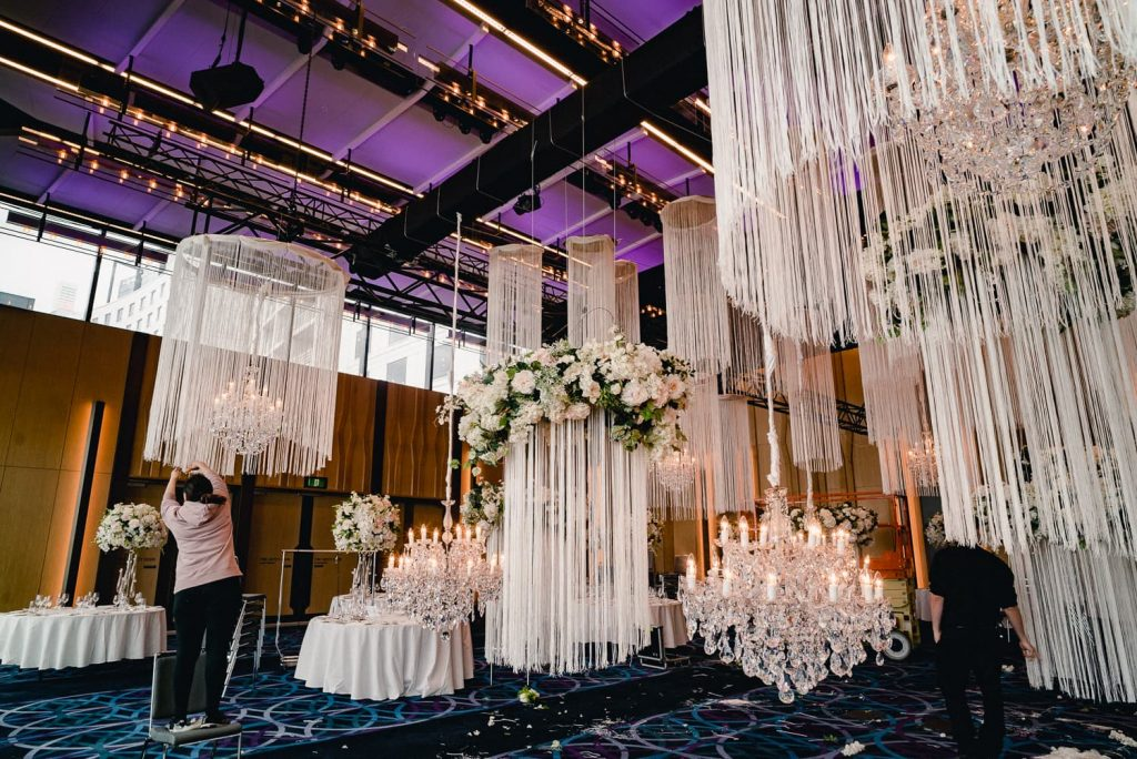 Hyatt Regency wedding ceiling
